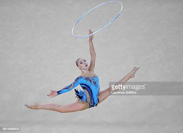Kseniya Moustafaeva of France competes during the Rhythmic Gymnastics Individual AllAround on August 19 2016 at Rio Olympic Arena in Rio de Janeiro...