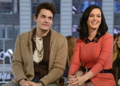 AMERICA Ksty Perry and John Mayer visited Times Square to debut the world exclusive premiere of the music video Who You Love on GOOD MORNING AMERICA...