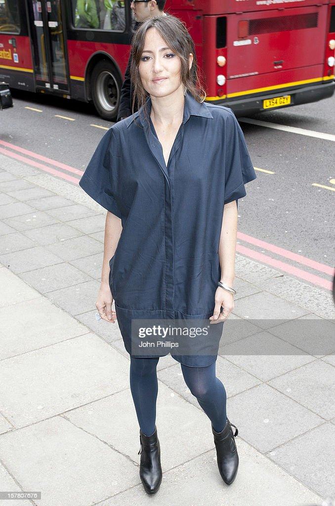 Kt Tunstall Arrives At The Ivor Novello Awards Arrivals At Grosvenor House Hotel In London.