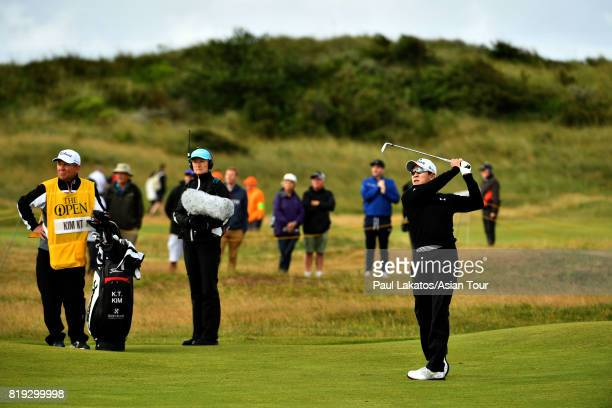 Kim of Korea plays a shot on hole 2 during the first round of the 146th Open Championship at Royal Birkdale on July 20 2017 in Southport England