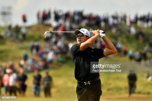 Kim of Korea plays a shot on the 2nd fairway at Royal Birkdale on July 22 2017 in Southport England