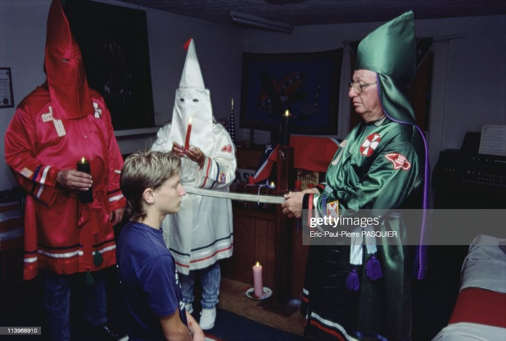 Ku Klux Klan, In United States-Klansmen have a particular affection for intricate drama and little mystical rituals. By dubbing this future Klansman, the Grand Dragon makes of him a Knight of the Ku Klux Klan.