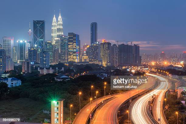 Kuala lumper skylines at dusk