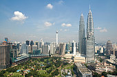 Kuala Lumpur aerial view