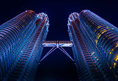 Kuala Lumpur, Malaysia - A night in Kuala Lumpur with a background of the tallest twin tower in the world.