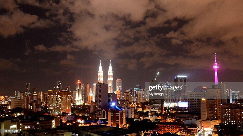 Kuala Lumpur At Night : Stock Photo