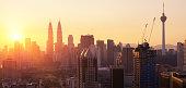 Kuala Lumpur at Sunrise, Malaysia