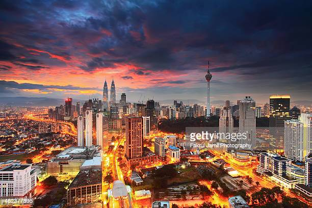 Kuala Lumpur City Centre on Epic Sunrise