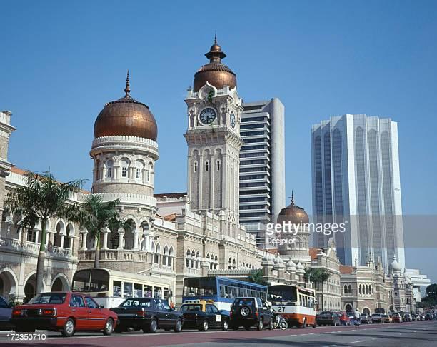 Horizonte de la ciudad de Kuala Lumpur en Malasia