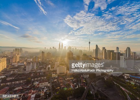 Kuala Lumpur heart of the city view during sunrise