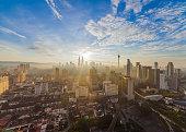 Kuala Lumpur heart of the city view during sunrise
