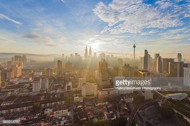 Kuala Lumpur skyline during sunrise