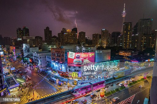 Kuala Lumpur Skyline : Bildbanksbilder