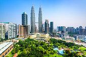 Kuala Lumpur, Malaysia City Center skyline.