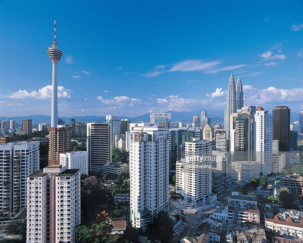 Kuala Lumpur skyline with Petronas Building, Malaysia : Stock Photo