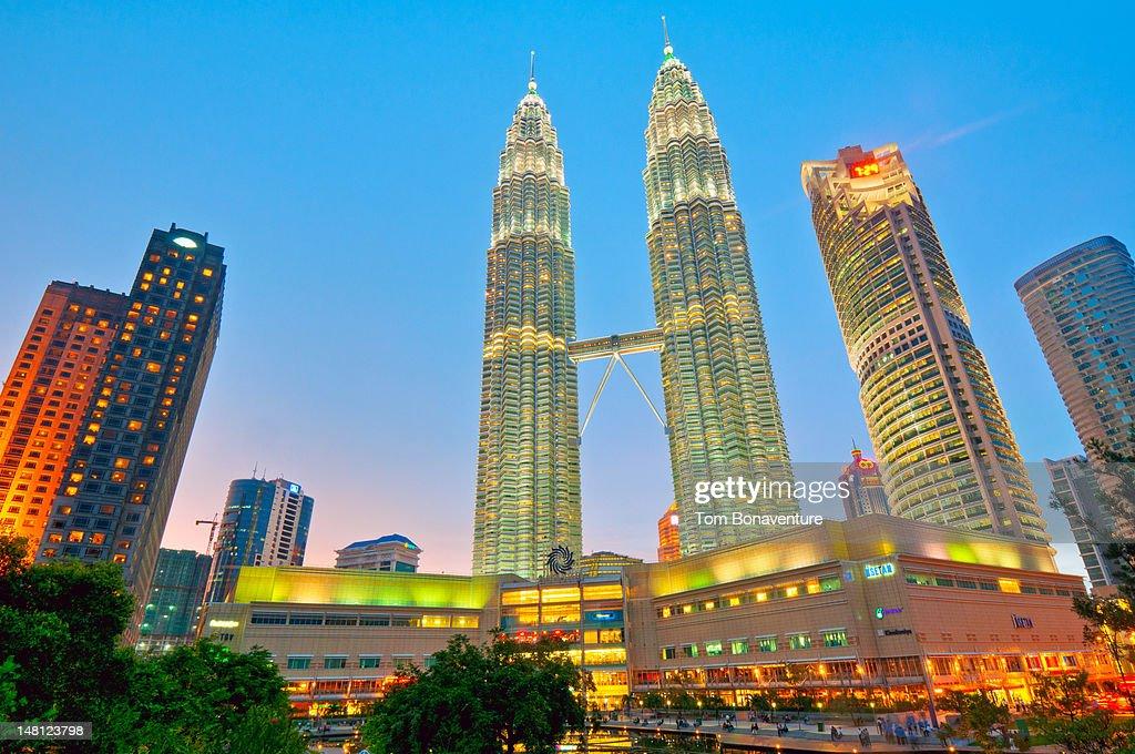 Kuala Lumpur skyline with Petronas Towers : Stock Photo