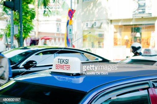 Kuala Lumpur Taxi Sign, Malaysia : Stock Photo