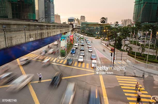 Kuala Lumpur twilight rush