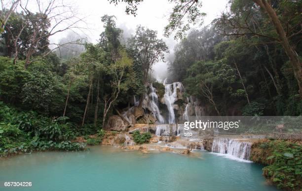 Kuang Si Falls early in the morning, Luang Prabang, Laos