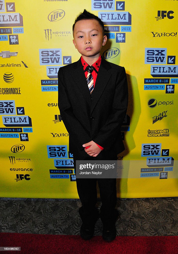 Kuang Yang poses in the greenroom at the screening of 'The Short Game' during the 2013 SXSW Music, Film + Interactive Festival at Stateside Theater on March 10, 2013 in Austin, Texas.