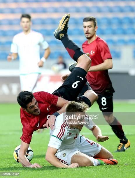 Kubilay Kanatsizkus of Turkey in action against Bence Lenser of Hungary during the 2017 UEFA European Under21 Championship qualification Group 6...
