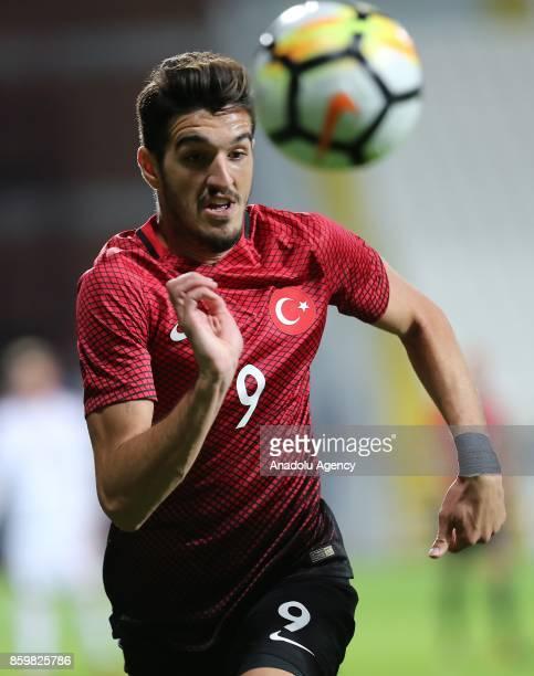 Kubilay Kanatsizkus of Turkey in action during the 2017 UEFA European Under21 Championship qualification Group 6 football match Turkey and Hungary at...