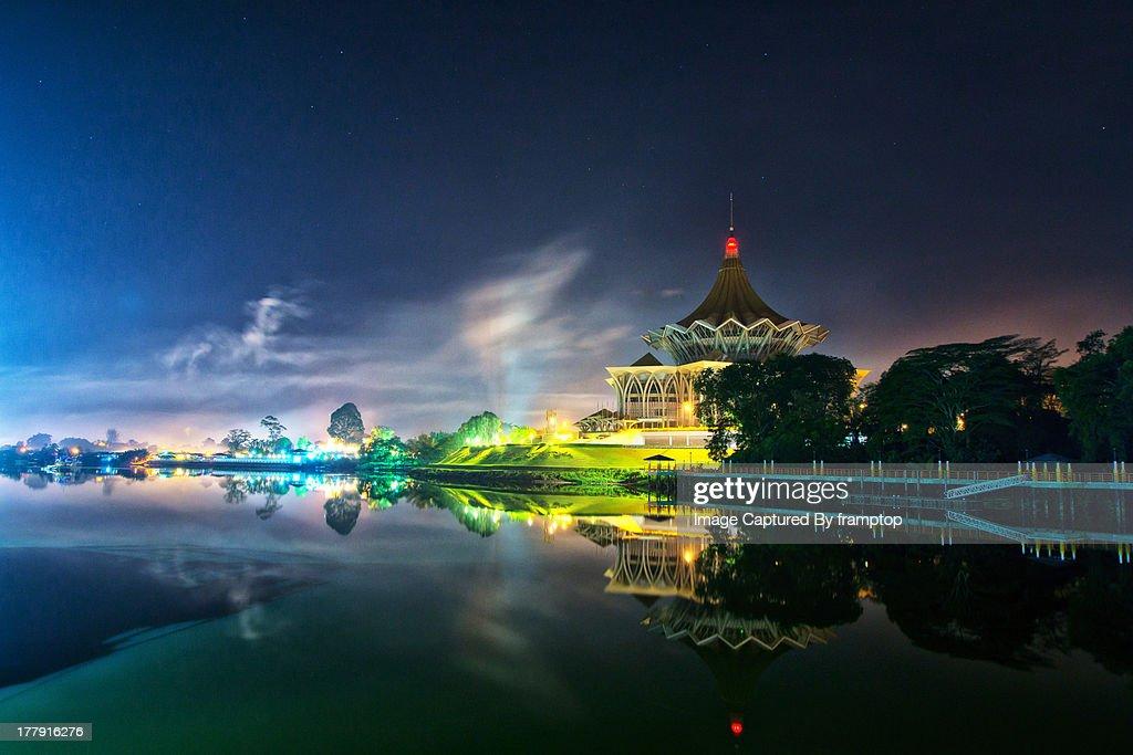 Kuching At Night - Looking At D.U.N