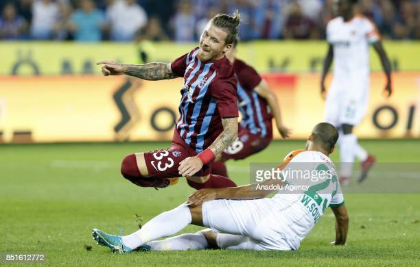 Kucka of Trabzonspor in action during the Turkish Super Lig's sixth week soccer match between Trabzonspor and Aytemiz Alanyaspor at Medical Park...