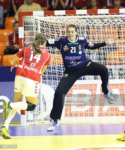 Kudlacz of Poland in action during the 2014 EHF European Handball Championship match between Hungary and Poland in Gyor Hungary on December 09 2014