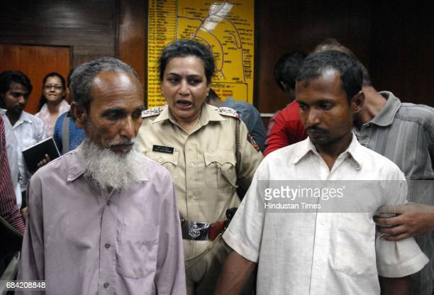 Kudus Khan and Noor Islam Khan of the murdered Laija Khan in a press conference at Bombay Central Lotan Khan has been arrested by Mumbai Police in...