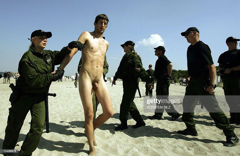 Similar. Naked police photos will