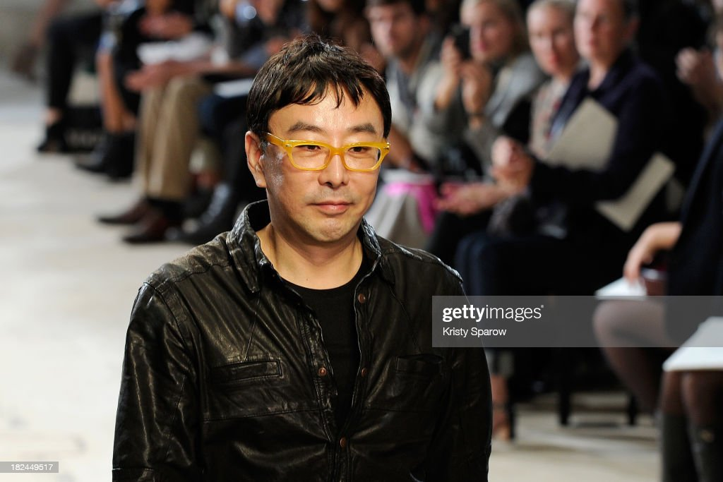 Kuho Jung acknowledge the audience during the Hexa By Kuho show as part of Paris Fashion Week Womenswear Spring/Summer 2014 on September 29, 2013 in Paris, France.