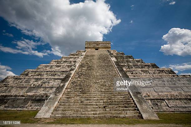 Kukulkan Temple in Chichen Itza Mexico