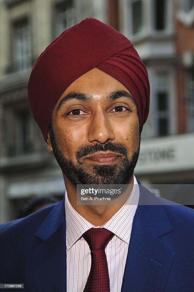 Kulveer Ranger attends the gala screening of 'Bhaag Milkha Bhaag' at The Mayfair Hotel on July 5, 2013 in London, England.