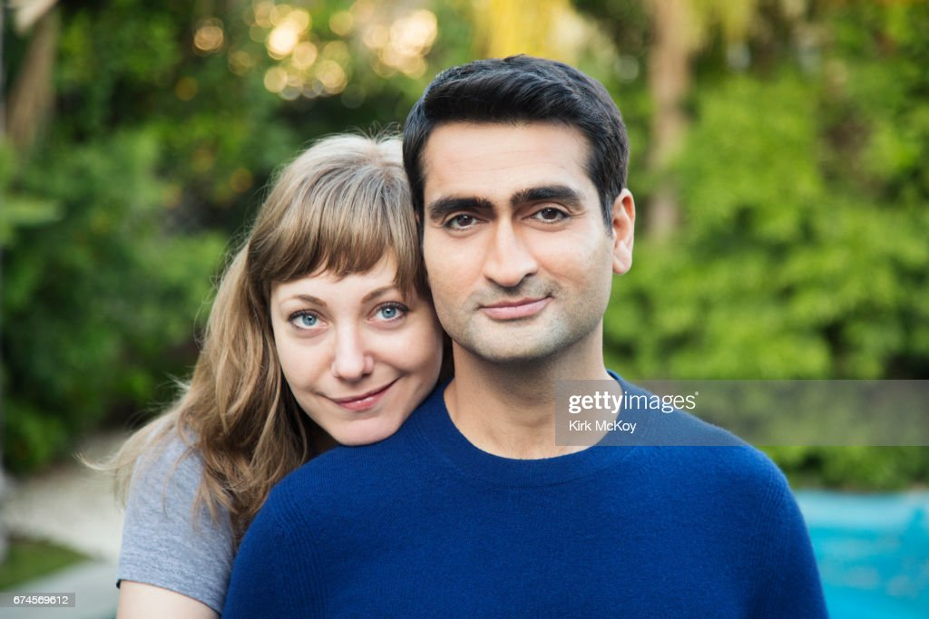 Kumail Nanjiani and Emily V. Gordon are photographed for Los Angeles Times on April 10, 2017 in Los Angeles, California. PUBLISHED IMAGE.