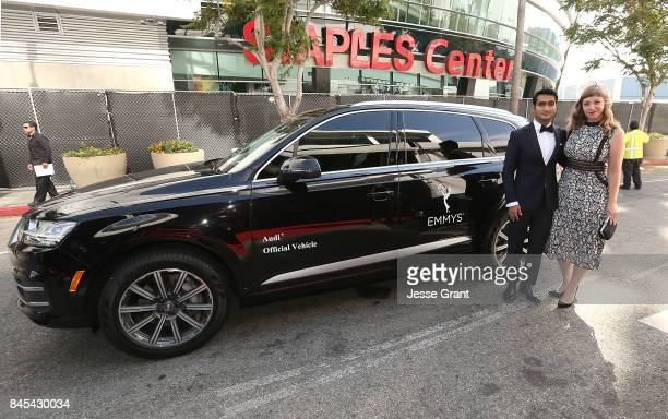 Kumail Nanjiani and Emily V Gordon arrive to The 69th Primetime Creative Arts Emmy Awards celebrated by Audi on September 10 2017 in Los Angeles...