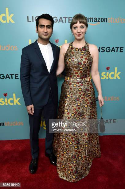 Kumail Nanjiani and Emily V Gordon attend the New York Premiere of 'The Big Sick' at Landmark Sunshine Cinema on June 20 2017 in New York City