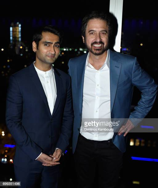 Kumail Nanjiani and Ray Romano attend at 'The Big Sick' New York Premiere after party at The Roof on June 20 2017 in New York City