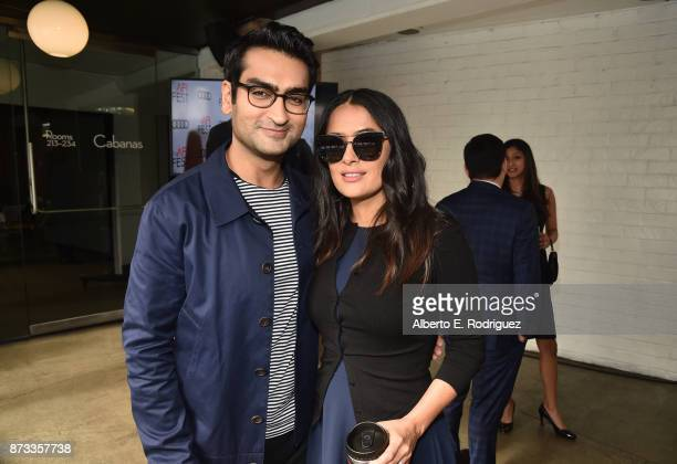 Kumail Nanjiani and Salma Hayek attend 'Indie Contenders Roundtable' at AFI FEST 2017 Presented By Audi at Hollywood Roosevelt Hotel on November 12...