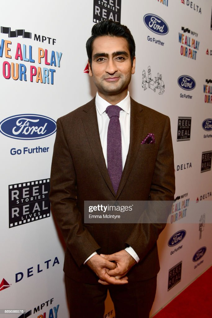 Kumail Nanjiani at the 6th Annual Reel Stories, Real Lives event benefiting MPTF at Milk Studios on November 2, 2017 in Hollywood, California.