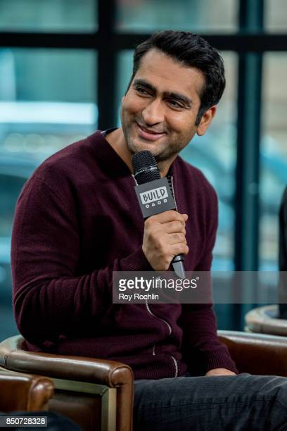 Kumail Nanjiani discusses 'The LEGO Ninjago Movie' with the Build Series at Build Studio on September 21 2017 in New York City