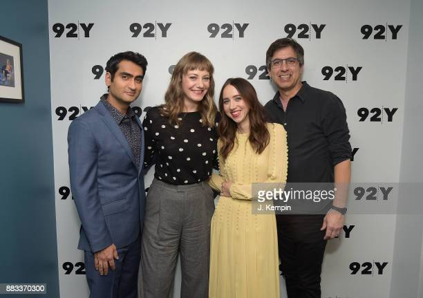 Kumail Nanjiani Emily V Gordon Zoe Kazan and Ray Romano visit the 92nd Street Y on November 30 2017 in New York City