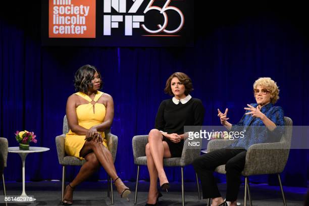 LIVE 'Kumail Nanjiani' Episode 1728 Pictured Leslie Jones as Viola Davis Cecily Strong Marion Cotillard Kate McKinnon as Debette Goldry during 'Film...