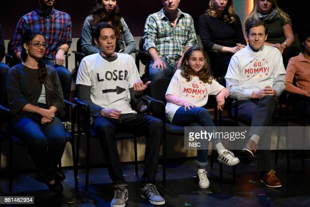 LIVE 'Kumail Nanjiani' Episode 1728 Pictured Pete Davidson Alex Moffat during 'Bank Breakers' in Studio 8H on Saturday October 14 2017