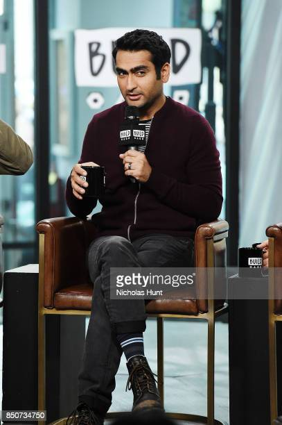 Kumail Nanjiani visits the Build Series to discuss the animated film 'The LEGO Ninjago Movie' at Build Studio on September 21 2017 in New York City