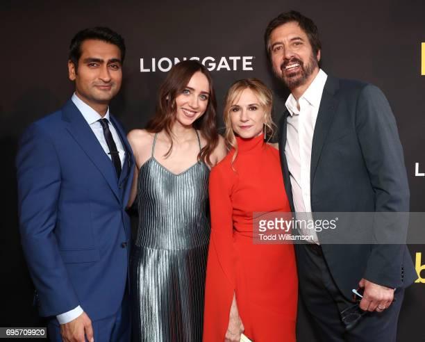 Kumail Nanjiani Zoe Kazan Holly Hunter and Ray Romano attend The LA Premiere of 'THE BIG SICK' presented by Amazon Studios And Lionsgate on June 12...