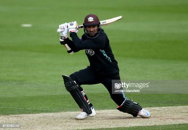 Kumar Sangakkara of Surrey bats during the Royal London OneDay Cup match between Surrey and Middlesex at The Kia Oval on May 5 2017 in London England