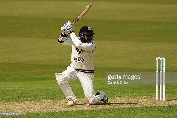 Kumar Sangakkara of Surrey during the Specsavers County Championship Division One match between Yorkshire and Surrey at Headingley on May 8 2016 in...