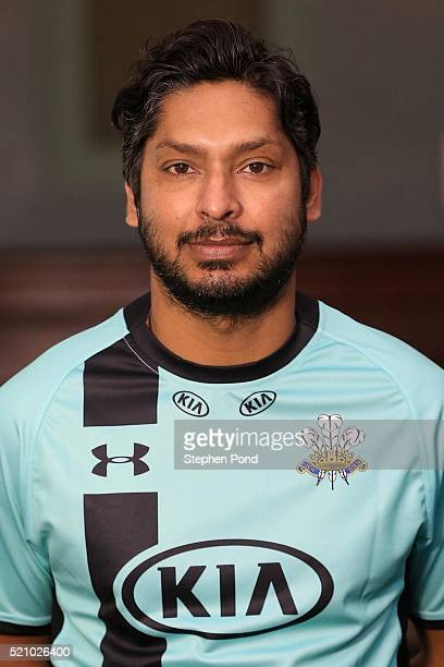 Kumar Sangakkara of Surrey during the Surrey County Cricket Club media day at The Kia Oval on April 6 2016 in London England