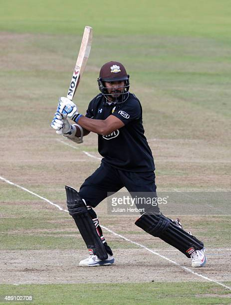 Kumar Sangakkara of Surrey in action during the Royal London OneDay Cup Final between Surrey and Gloustershire at Lord's Cricket Ground on September...